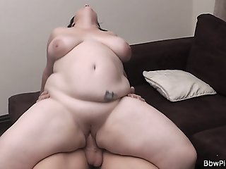 Fat woman pick up and cock..