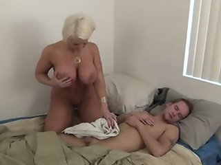 step mom jerking off NOT her..
